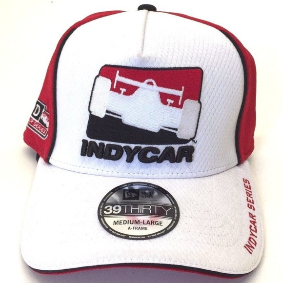 4c24f6d81 Indycar Series New Era 39Thirty A-FRAME Hat Sz M-L